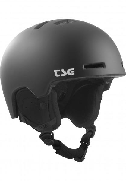 TSG Snowboardhelme Arctic Nipper Maxi Solid Color II satin black Vorderansicht