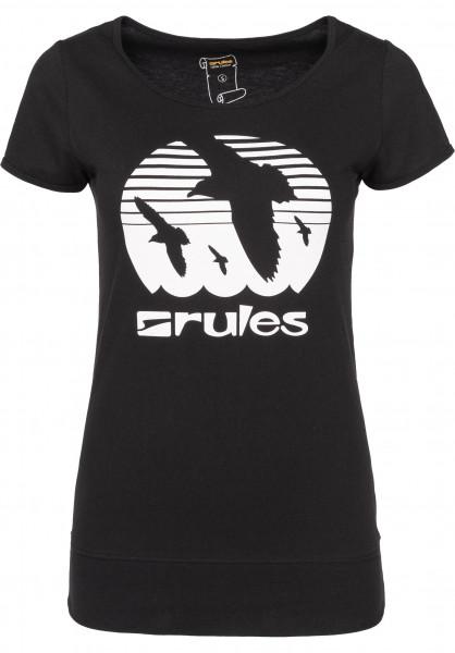 Rules T-Shirts Doves Girls black-white Vorderansicht