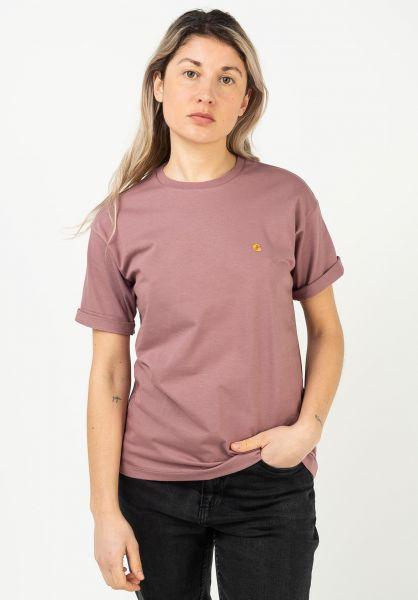 Carhartt WIP T-Shirts W' Chasy malaga-gold vorderansicht 0396548
