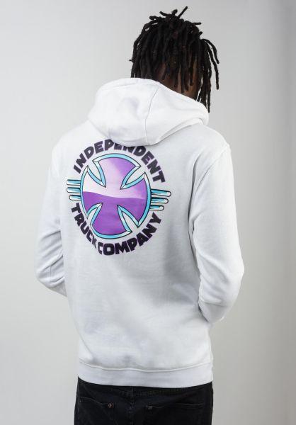 Independent Hoodies Purple Chrome white vorderansicht 0445362