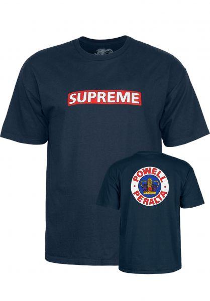 Powell-Peralta T-Shirts Supreme navy Vorderansicht