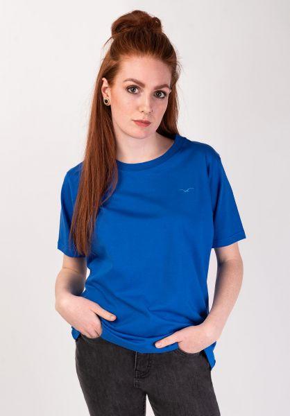 Cleptomanicx T-Shirts Ligull nauticalblue vorderansicht 0369030