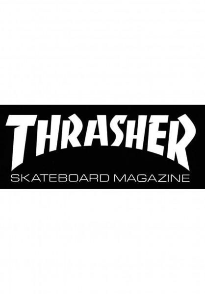 Thrasher Verschiedenes Skate Mag Super Sticker black Vorderansicht
