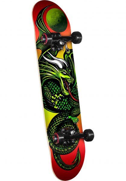 Powell-Golden-Dragon Skateboard komplett Knight Dragon Mini red vorderansicht 0160293