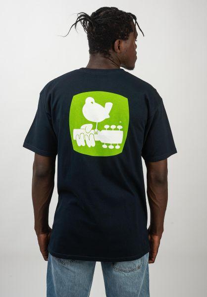 HUF T-Shirts x Woodstock Staff navy vorderansicht 0320647