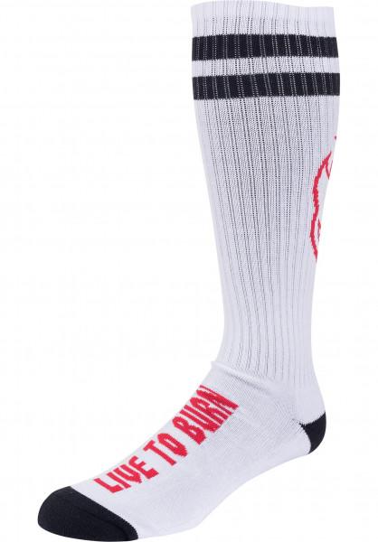 Spitfire Socken Heads up white-black-red Vorderansicht