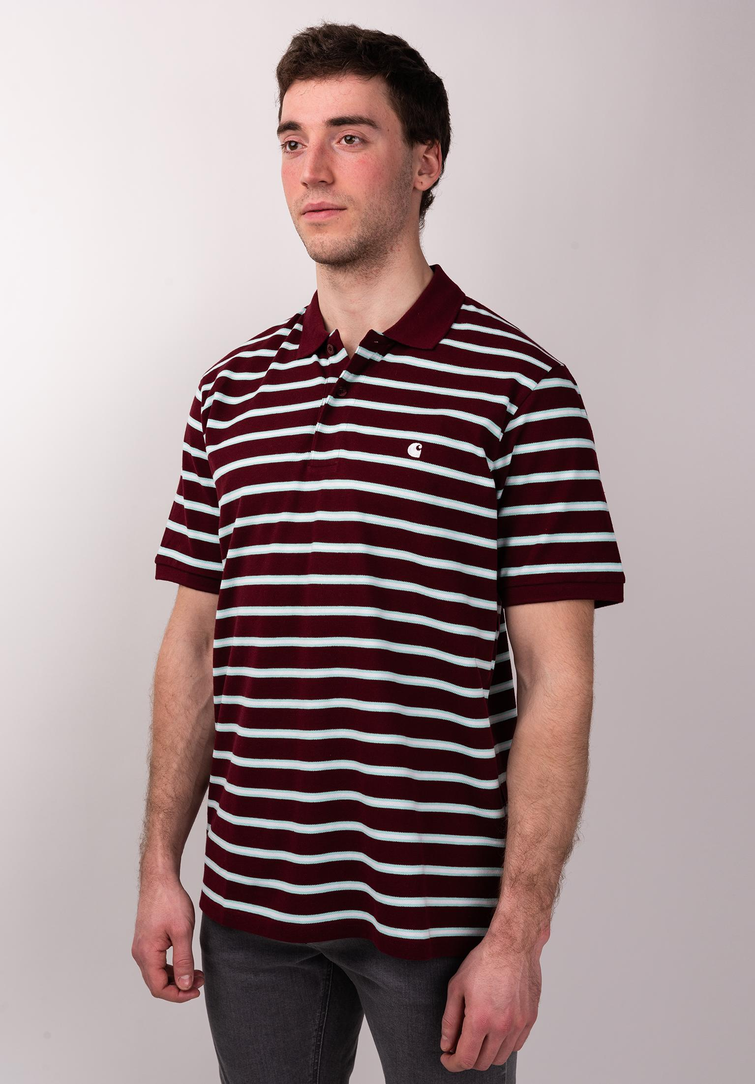 74545079 Houston Polo Carhartt WIP Polo Shirts in houstonstripe-cranberry for Men |  Titus