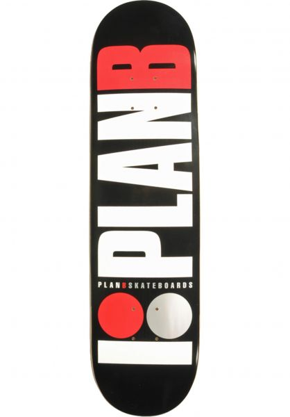 Plan-B Skateboard Decks Team OG black-white-red vorderansicht 0260581