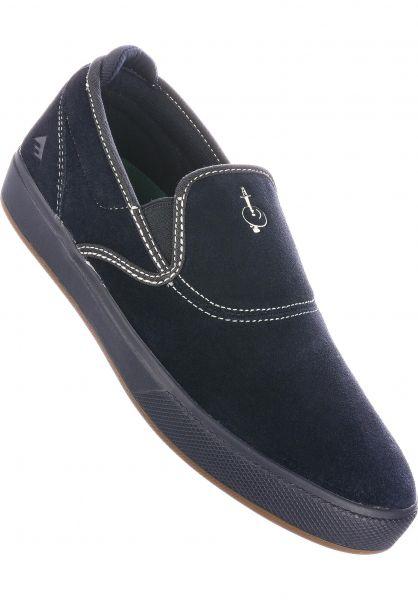 Emerica Alle Schuhe Wino G6 Slip Cup navy vorderansicht 0604992