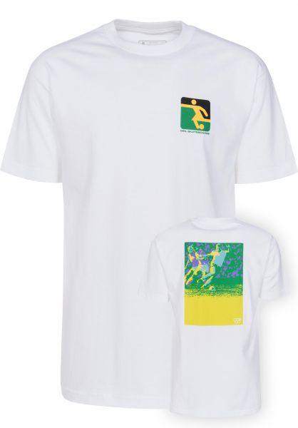 Girl T-Shirts Futbol white Vorderansicht
