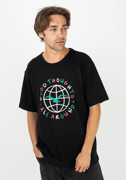 Cleptomanicx T-Shirts All Around black vorderansicht 0322189