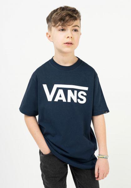 Vans T-Shirts Classic Kids dressblues-white vorderansicht 0373987