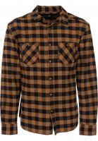 TITUS Hemden langarm Adam brown-checked Vorderansicht