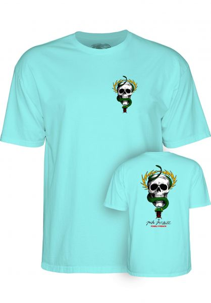 Powell-Peralta T-Shirts Mc Gill Skull & Snake celadon vorderansicht 0362162