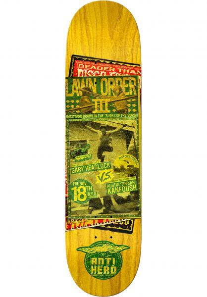 Anti-Hero Skateboard Decks Kanfoush Friday Night yellow vorderansicht 0261572