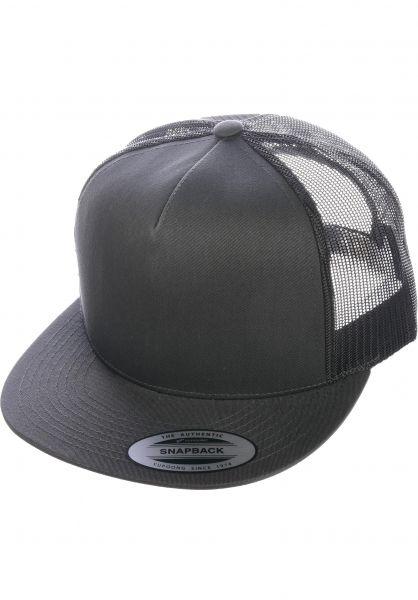Flexfit Caps Flat Trucker Cap darkgrey vorderansicht 0566388