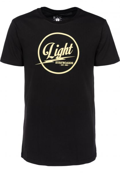 Light T-Shirts Surfboards black Vorderansicht
