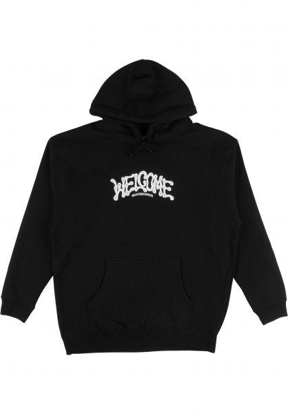 Welcome Hoodies Droop black vorderansicht 0446147