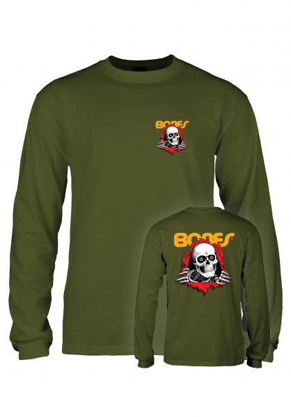 Powell-Peralta Longsleeves Ripper military-green vorderansicht 0382691