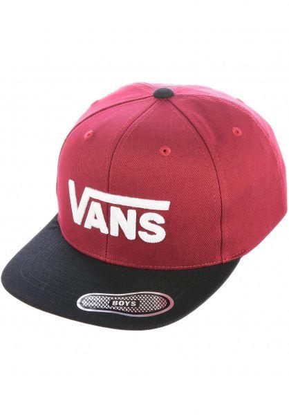 Vans Caps Drop V II Kids pomegranate vorderansicht 0564363