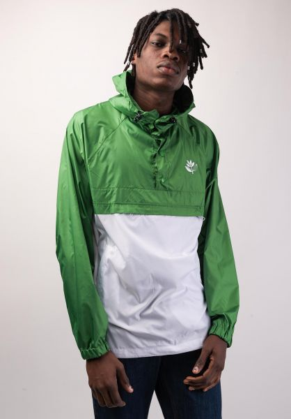 Magenta Windbreaker Retractable green-lightgrey vorderansicht 0122501