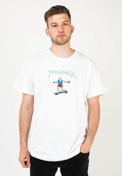 Thrasher T-Shirts Gonz Logo white vorderansicht 0323414
