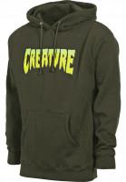 Creature Hoodies Creature Logo army-green Vorderansicht