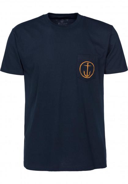 Captain Fin T-Shirts Helm navy Vorderansicht