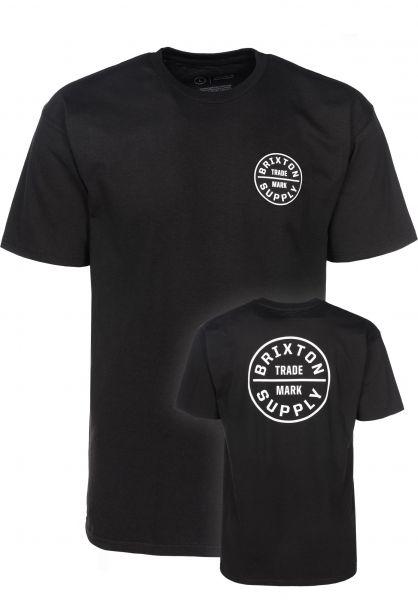 Brixton T-Shirts Oath black Vorderansicht