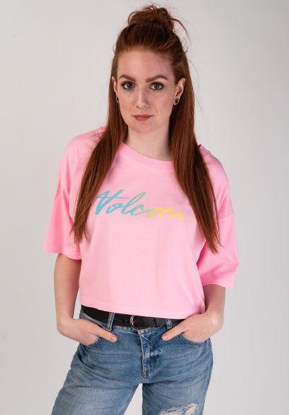 Volcom T-Shirts Neon And On neonpink vorderansicht 0399658