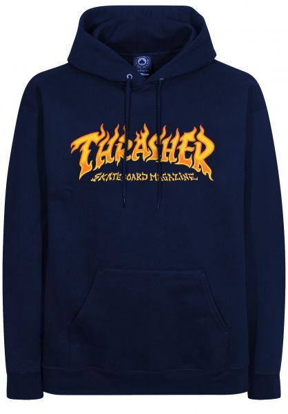 Thrasher Hoodies Fire Logo navy vorderansicht 0446274