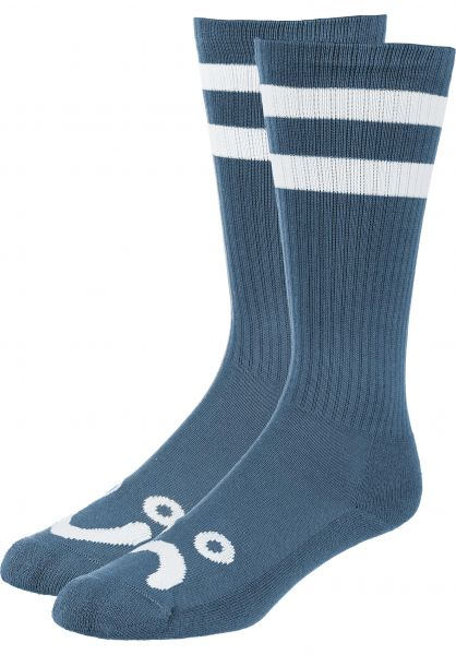 Polar Skate Co Socken Happy Sad Classic captainsblue Vorderansicht