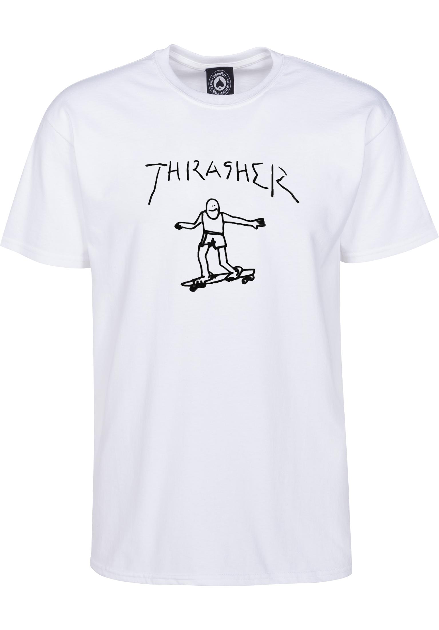 c44f7114ef86 Gonz Thrasher T-shirt in white da Uomo