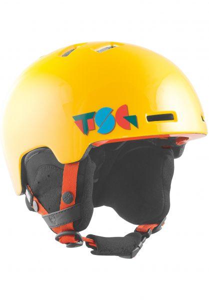 TSG Snowboardhelme Arctic Nipper Mini Graphic Design II constructured mustard Vorderansicht 0223011