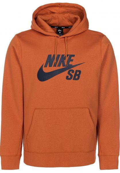Nike SB Hoodies SB Icon cinderorange-obsidian vorderansicht 0444154