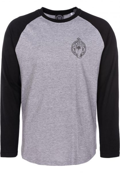 Rebel Rockers Hemden langarm Dusa black-greyheather vorderansicht 0411898