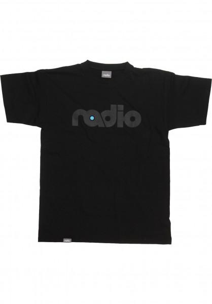 Radio T-Shirts OG-Logo black-black Vorderansicht