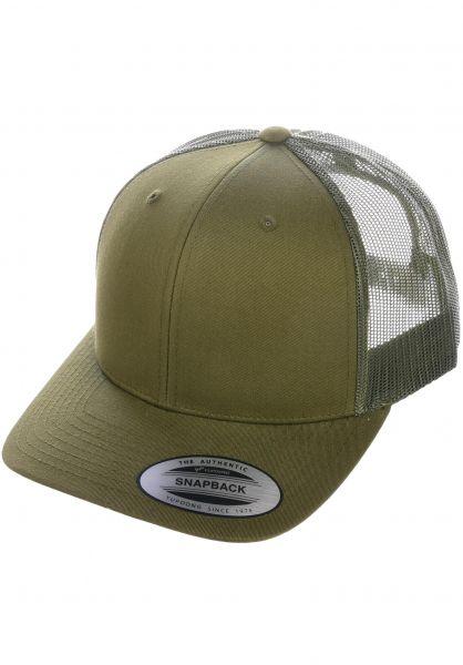 Flexfit Caps Retro Trucker Cap buckgreen vorderansicht 0566387