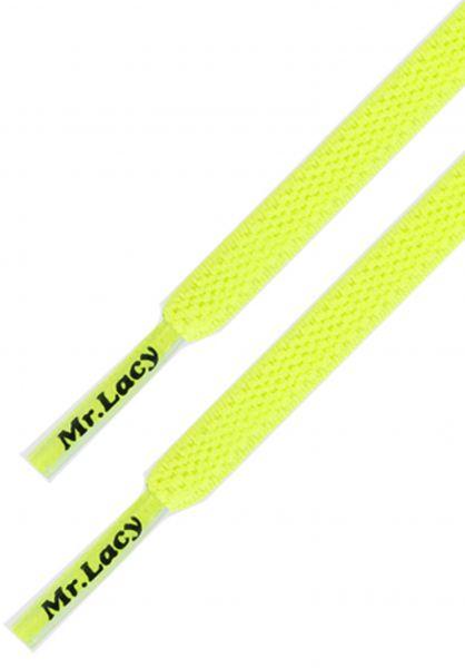 Mr. Lacy Schnürsenkel Flexies yellow vorderansicht 0640008