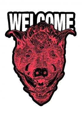 "Welcome Hog Wild Die-Cut 6"" Sticker"