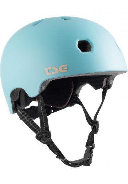 TSG Helme Meta Solid Color satin blue tint vorderansicht 0750123
