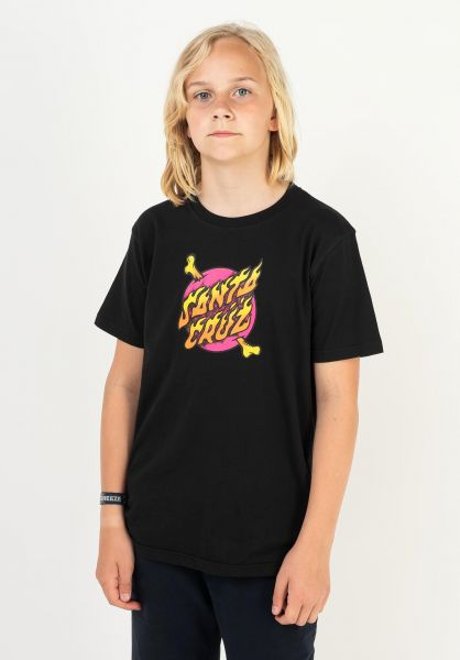 Santa-Cruz T-Shirts Youth Crossbone Dot black vorderansicht 0323318