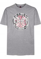 Independent-T-Shirts-Shredded-heathergrey-Vorderansicht