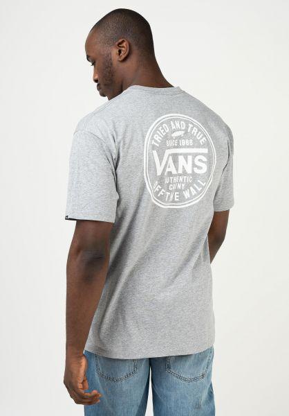 Vans T-Shirts Tried and True athleticheather vorderansicht 0323464
