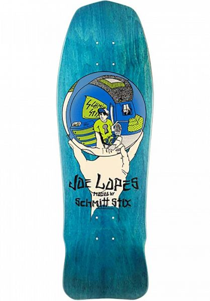 Schmitt-Stix Skateboard Decks Joe Lopes Crystal Ball Stains blue Vorderansicht