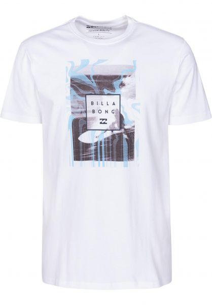 Billabong T-Shirts Stacked Photo white vorderansicht 0398772