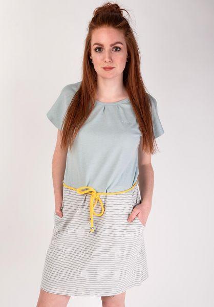Mazine Kleider Agness lightbluemelange-stripes vorderansicht 0801408