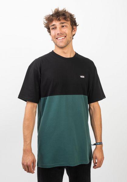 Vans T-Shirts Colorblock black-trekkinggreen vorderansicht 0397884