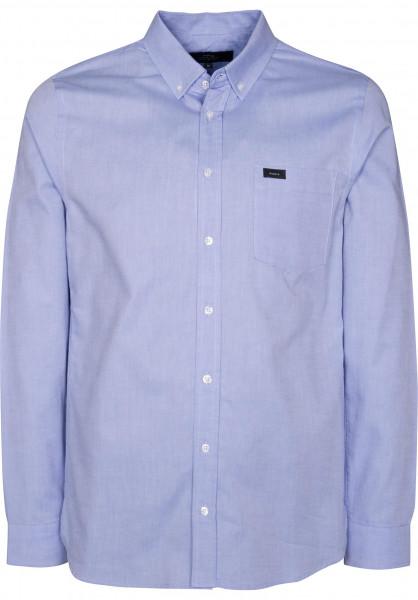 Makia Hemden langarm Flagship blue Vorderansicht