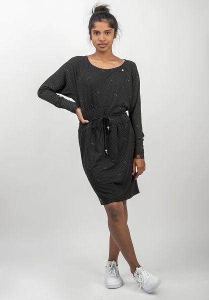 Ragwear Kleider Libbie black vorderansicht 0801485